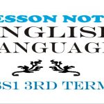 Lesson Note English Language